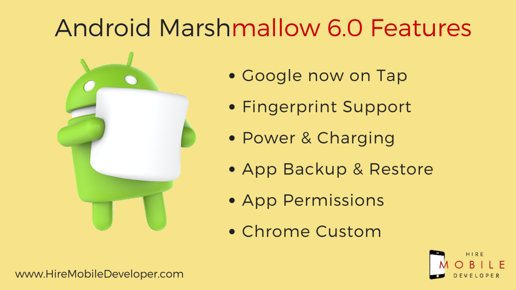Google Marshmallow Features