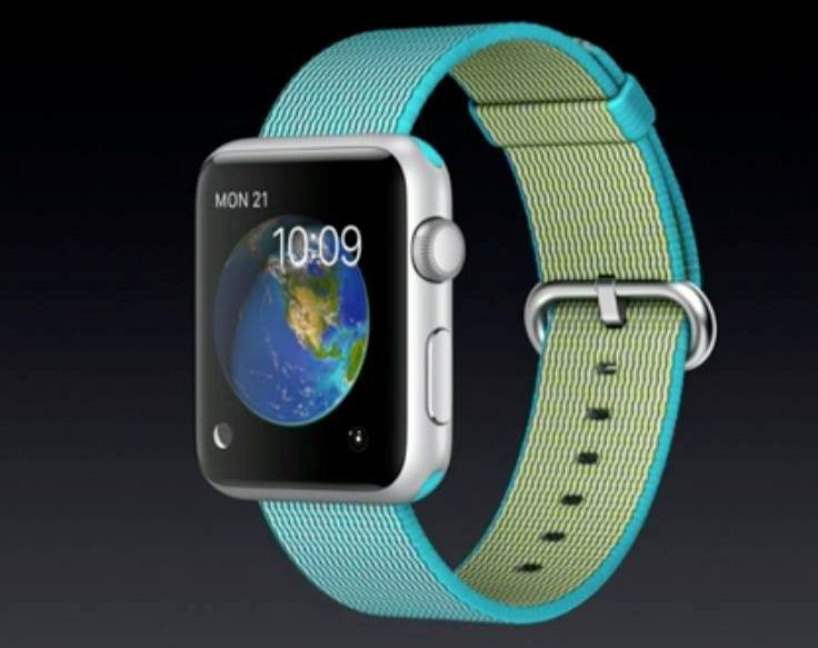 Apple Watch with new color band